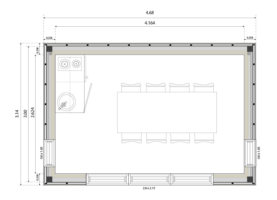 Plan maison avec cote gallery of plans la maison possde - Plan de maison avec cuisine ouverte ...